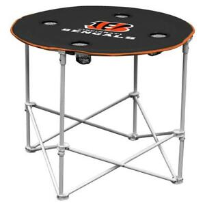 Cincinnati Bengals Round Tailgate Table [NEW] NFL Portable Chair Fold Party