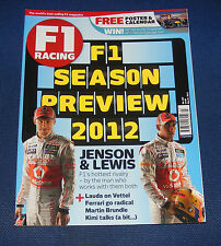 F1 RACING MARCH 2012 - F1 SEASON PREVIEW 2012