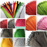 10Pcs Nylon Invisible Soft Tulle Coil Zippers Sewing Supplies 12''/16''/22''