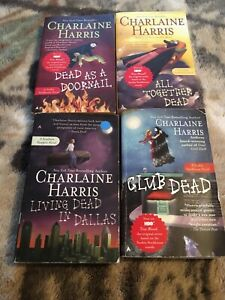 Charlaine Harris Lot 6 Sookie Stackhouse TRUE BLOOD Novels Book  Paperback Dead