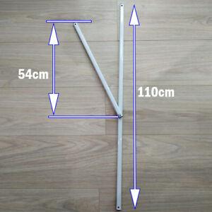 Y-Bar Gazebo Spare/Parts:Metal Strut Gazebo Pole For 2.4m x 2.4m or 3m x 3m