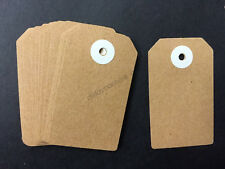 60pcs Brown Paper Gift Tags Craft Wedding Gift Wrap Bonbonniere Party Favours
