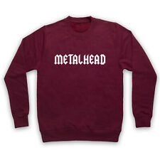METALHEAD HEAVY METAL MEDIUM BURGUNDY ADULTS SWEATSHIRT