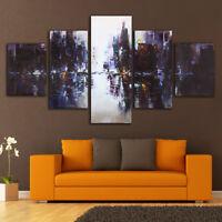 5Pcs Abstract City Modern Canvas Print Art Oil Painting Home Wall Decor Unframed