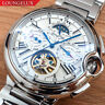 Mens Automatic Mechanical Watch - Silver White Stainless Steel DIASTERIA 3109