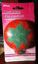 Allary Craft & Sew Tomato Pin Cushion with Needle Sharpener - Brand New