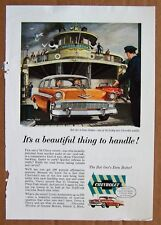 MAGAZINE AD ~ 1956 CHEVROLET BEL AIR ~ NATIONAL GEOGRAPHIC