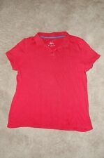 Justice Girls  School Uniform Polo Shirt Size 14 Plus RED