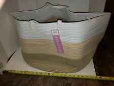 XXL Cotton Rope Basket -  Storage, Laundry, Toys, Clothes, Blankets,  bonus mini