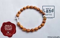 OLIVE WOOD BRACELET religious HOLY LAND wooden handmade JERUSALEM natural