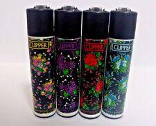 CLIPPER New Full Series *Flowers*  Brand Original Many Refillable Lighters 4pcs