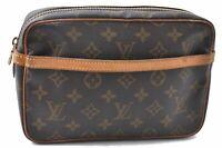 Authentic Louis Vuitton Monogram Compiegne 23 Clutch Hand Bag M51847 LV C3894