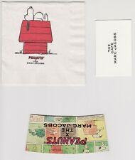 Marc Jacobs The Cafe Peanuts Snoopy Charlie Brown Napkin Card Coffee Cup Holder