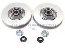 PEUGEOT PARTNER & VAN 08-17 REAR 2 BRAKE DISCS FITTED WHEEL BEARINGS ABS RINGS