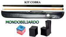 KIT STECCA DA BILIARDO COBRA 100 - CALCIO + PUNTALE - POOL 8-15 - PUNTA 13mm