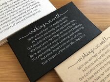 50 x BLACK Wishing Well Cards - Printed And Cut - Wedding Invitations - DIY