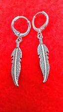 Pendientes mujer aros con plumas