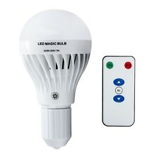 7W E27 LED Rechargeable Emergency Bulb Light Flashlight 85-265V Lamp /w Remote