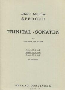 Johann Matthias Sperger, Trinital-Sonate Nr. 2 in D  für Kontrabass und Klavier