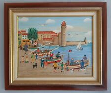 "Charlotte Julian - ""Collioure"" - Art Naïf - Tableau original -"