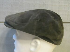 💥Dockers Leather Hat Cabbie Newsboy Grey size S/M 💥Very Clean💥