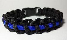 Thin Blue Line Survival Paracord Bracelet Support Blue Lives Matter Wrist Band
