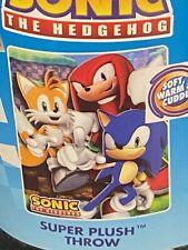 RARE Sonic The Hedgehog MERCH HTF  Sega Plush Fleece Throw Blanket NEW WOW