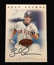 BRAD AUSMUS 1996 LEAF SIGNATURE Autograph Signed AUTO Baseball Card PADRES
