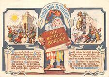 AK Gruß aus Schildau Die Schildbürger Postkarte