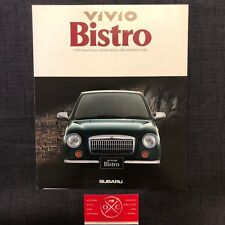 Subaru Vivio Bistro Brochure Catalog JDM Rare Retro 95 95 Club Sports L Chiffon