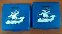 Tupperware Sandwich Keepers #3752A Set of 2 Blue - Used