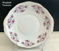 More details for royal osborne gilded pin roses bone china cake sandwich plate  pattern no 8595