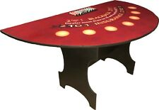 Blackjack Card Table 7 Player Burgundy