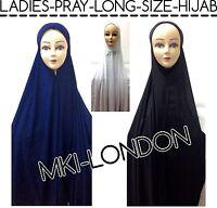 MUSLIM LADIES LONG SIZE HIJAB FOR NAMAAZ SALAH PRAY READYMADE HIJAB