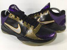 Nike Zoom Kobe 5 Carpe Diem Playoff Purple Yellow Black Mens Size 8.5 Rare