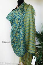 Embellished SHAWL SCARF  designer INDIAN STOLE WARM PAISLEY wrap freeship
