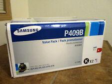 NEW SAMSUNG CLT-P409B OEM Genuine Black Toner Print Cartridge Sealed Dual 2 Pack