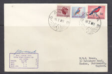 SOUTH AFRICA ANTARCTIC COVER 1963  SIGNED