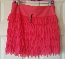 NWT Grace Elements Womens Ruffled Coral Tiered Skirt Size M Medium