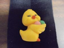 """Russ Berrie Miniature Yellow Chick with Easter Eggs  Shadow Box 1 5/8"""""""