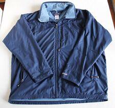 Patagonia Fleece Lined Windbreaker Ski Jacket Men's Large Blue Coat Full Zip