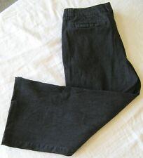 Women's  Size 14 Merona Pants Black Striped Cotton/Spandex  C4