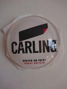 #R365 CARLING ROUND BAR BADGE, pub,font,tbar,mancave