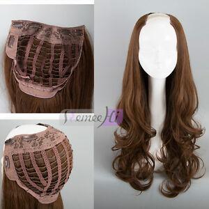 New 3/4 Wig Long Wavy Curly Synthetic U Part Half Wig