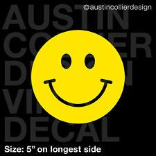 "5"" HAPPY FACE vinyl decal car truck window laptop sticker - smiley face"