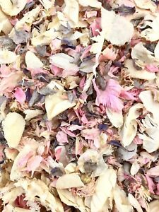 PINK IVORY GREY Biodegradable Throwing Wedding Confetti Petals, Flutter Fall