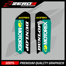 KTM SX 85 2013 - 2019 LOWER FORK DECALS MOTOCROSS MX GRAPHICS MOTOREX BLACK