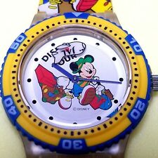 Rare Unused Japan Airlines Disney Mickey Mouse Wristwatch Working