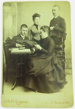 .c1870/ 80s QUALITY STUDIO PHOTO by G A H EGGERS, DUNKIRK, NEW YORK. DOTY FAMILY