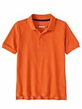 Wonder Nation Boys School Uniform Short Sleeve Orange Polo Size M -Ch6-
